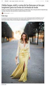 Faldas largas midi y cortas para tus looks de invitada de boda - ELLE.es - 2019 04 22 - Alexandra Lapp - found on https://www.elle.com/es/star-style/el-estilo-de/a27163369/faldas-largas-midi-cortas-invitada-boda/