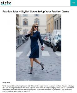 Fashion Jobs - Stylish Socks to Up Your Fashion Game - Style Nine to Five - 2017 05 - Alexandra Lapp - found on http://styleninetofive.com/2017/05/03/fashion-jobs-stylish-socks-to-up-your-fashion-game/