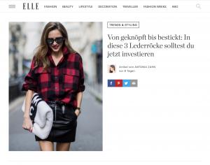 Fashion Trends - Die angesagtesten Looks der Stunde - ELLE germany - 2017 10 - Alexandra Lapp - found on http://www.elle.de/lederroecke-trend-2017