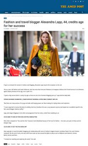 Fashion and travel blogger Alexandra Lapp 44 credits age for her success - The Amed Post - amedpost.com_2019 11 06 - Alexandra Lapp - found on https://amedpost.com/fashion-and-travel-blogger-alexandra-lapp-44-credits-age-for-her-success/