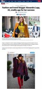 Fashion and travel blogger Alexandra Lapp 44 credits age for her success - Fox News - foxnews.com - 2019 11 05 - Alexandra Lapp - found on https://www.foxnews.com/lifestyle/alexandra-lapp-44-fashion-blogger
