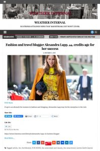 Fashion and travel blogger Alexandra Lapp 44 credits age for her success - WEATHER INTERNAL - weatherinternal.com - 2019 11 05 - Alexandra Lapp - found on https://weatherinternal.com/fashion-and-travel-blogger-alexandra-lapp-44-credits-age-for-her-success/