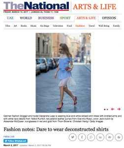 Fashion notes - Dare to wear deconstructed shirts - The National - 2017-03 - Alexandra Lapp - found on http://www.thenational.ae/arts-life/fashion/fashion-notes-dare-to-wear-deconstructed-shirts
