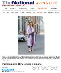 Fashion notes - How to wear a kimono - The National - 2017 05 - Alexandra Lapp - found on http://www.thenational.ae/arts-life/fashion/fashion-notes-how-to-wear-a-kimono