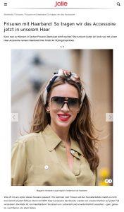 Frisuren mit Haarband - So tragen wir das Accessoire - jolie.de - 2019 07 18 - Alexandra Lapp - found on https://www.jolie.de/frisuren/frisuren-mit-haarband-so-tragen-wir-das-accessoire-201714.html