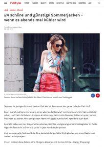 Für abends - Schöne und günstige Sommerjacken - Instyle - 2017 07 - Alexandra Lapp - found on http://www.instyle.de/fashion/schoene-guenstige-sommerjacken-abends