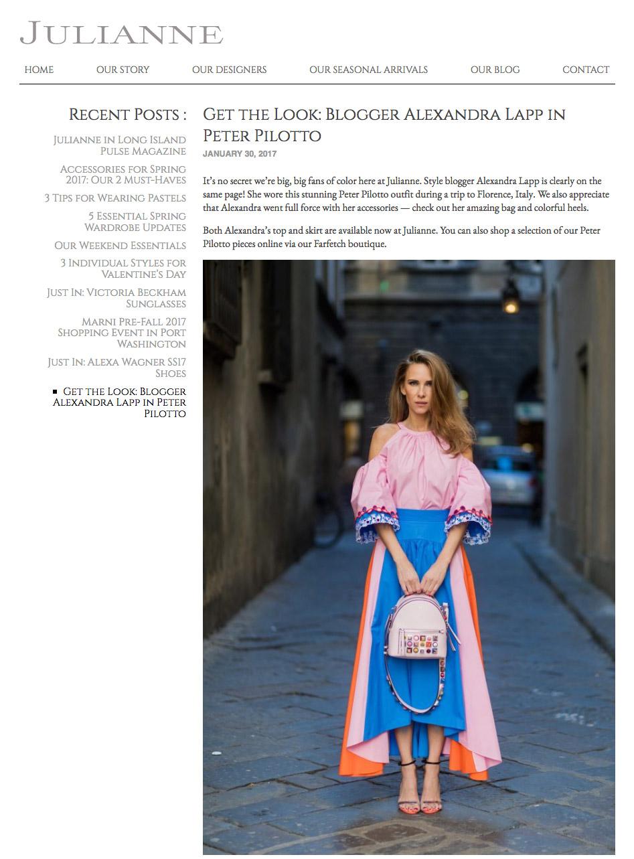 Get the Look - Blogger Alexandra Lapp in Peter Pilotto - JULIANNE - 2017-03 - found on http://julianneny.com/get-the-look-blogger-alexandra-lapp-in-peter-pilotto/