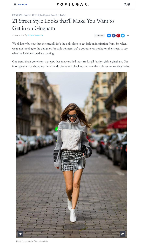Gingham Street Style Outfits - POPSUGAR Fashion Australia - 2017 03 - Alexandra Lapp - found on https://www.popsugar.com.au/fashion/Gingham-Street-Style-Outfits-43342387#photo-43342370