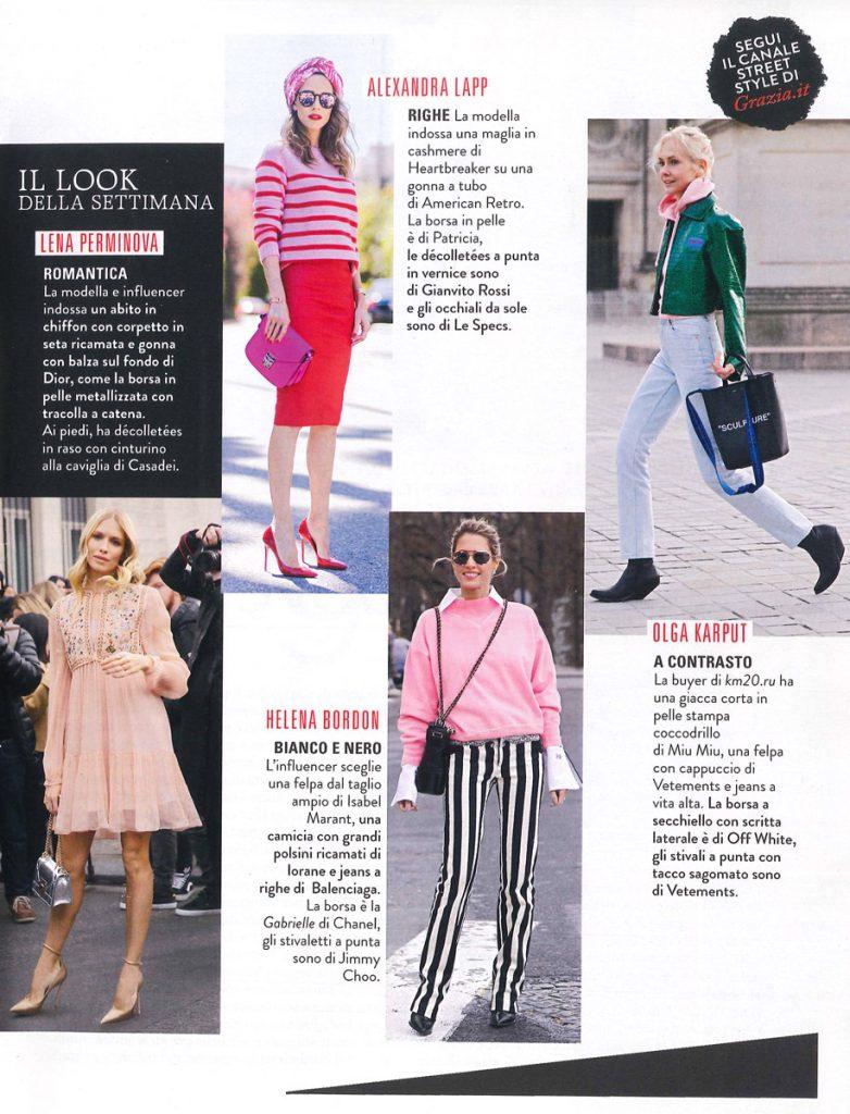 Grazia Italy - No 21 Page 33 - 2017 05 - Alexandra Lapp