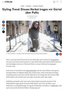 Gürtel über Pulli - Der Styling Trend im Herbst - Instyle Germany - 2018 10 11 - Alexandra Lapp - found on https://www.instyle.de/fashion/styling-trend-guertel-ueber-pulli