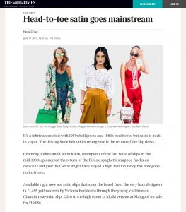 Head to toe - satin goes mainstream - The Times & The Sunday Times - 2017 06 - Alexandra Lapp - fhttps://www.thetimes.co.uk/article/head-to-toe-satin-regains-its-lustre-9f2mzxsnvound on