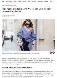 Herbst 2017 Voluminöse Statement Ärmel sind jetzt Trend - Instyle Deutschland - 2017 10 03 - Alexandra Lapp - found on http://www.instyle.de/fashion/statement-aermel-volumen