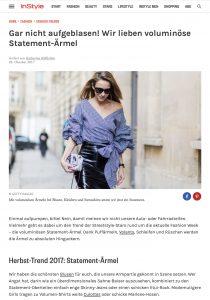 Herbst 2017 Voluminöse Statement Ärmel sind jetzt Trend - Instyle - 2017-10 - Alexandra Lapp - found on http://www.instyle.de/fashion/statement-aermel-volumen
