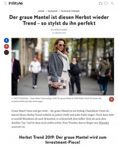 Herbst Trend 2019 - Der graue Mantel wird zum Investment Piece - instyle.de - 2019 10 16 - Alexandra Lapp - found on https://www.instyle.de/fashion/herbst-trend-2019-grauer-mantel