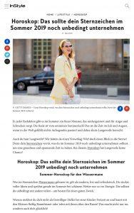 Horoskop - Was du diesen Sommer noch unbedingt tun solltest laut Sternzeichen - InStyle.de - 2019 07 17 - Alexandra Lapp - https://www.instyle.de/lifestyle/horoskop-sternzeichen-sommer-2019-unternehmen