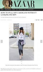 How To Pul Off Cardigans Without Looking Frumpy - harpersbazaar com sg - 2018 01 10 - Alexandra Lapp - found on http://www.harpersbazaar.com.sg/fashion/fashion-news-trends/how-to-style-cardigans-style-tips/?slide=3