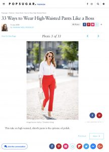 How to Wear High Waisted Pants - POPSUGAR Fashion UK - 2018 07 11 - Alexandra Lapp - found on https://www.popsugar.co.uk/fashion/photo-gallery/45034082/image/45034009/take-high-waisted-slim-fit-pants-epitome-polish?utm_medium=redirect&utm_campaign=US:DE&utm_source=direct