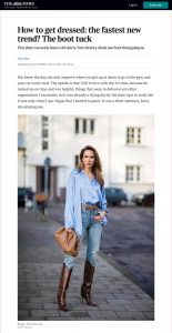 How to get dressed the fastest new trend - The boot tuck - Magazine The Times - thetimes.co.uk - 2020 02 29 - Alexandra Lapp - found on https://www.thetimes.co.uk/article/how-to-get-dressed-the-fastest-new-trend-the-boot-tuck-lhp92fxzc