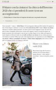 Il blazer con la cintura e l ultima novita moda inverno 2021 - ELLE Italy online - elle.com/it - 2020 10 19 - Alexandra Lapp - found on https://www.elle.com/it/moda/tendenze/g34356880/blazer-con-cintura-moda-inverno-2021/