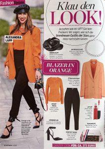 InTouch Germany - No. 14 page 36 - 2021 03 30 - Klau den Look - Blazer in orange - Alexandra Lapp