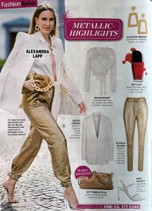 InTouch Germany - No .15 page 38 - 2021 04 08 - Fashion Update - Metallic Highlights - Alexandra Lapp