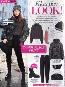 InTouch Germany - No. 45 page 60 - 2020 10 29 - Fashion-Update: Klau den Look: Camouflage Print - Alexandra Lapp