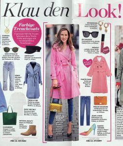 InTouch Germany No. 19 - 2019 05 02 - Page 38-39 - Klau den Look - Farbige Trenchcoats - Alexandra Lapp