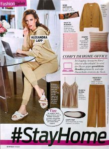 InTouch Germany No. 19 - 2020 04 03 - Fashion Update: #stayhome - Alexandra Lapp