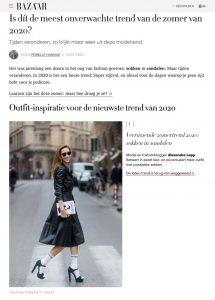 Is dit de meest onverwachte trend van de zomer van 2020 - Harpers Bazaar Netherlands online - harpersbazaar.com/nl - 2020 07 07 - Alexandra Lapp - found on https://www.harpersbazaar.com/nl/mode-juwelen/g33257958/trend-2020-sokken-in-sandalen/