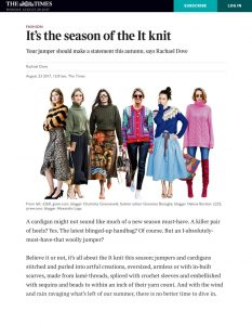 It's the season of the It knit - The Times & The Sunday Times - 2017 08 - Alexandra Lapp - found on https://www.thetimes.co.uk/article/its-the-season-of-the-it-knit-3t8j5nqw6
