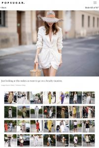 Just looking makes us want go beachy vacation - The 67 Best Street Style Looks We have Seen All Summer - POPSUGAR Fashion - popsugar com - 2018 08 - Alexandra Lapp - found on https://www.popsugar.com/fashion/photo-gallery/45130234/image/45134237/Just-looking-makes-us-want-go-beachy-vacation/amp