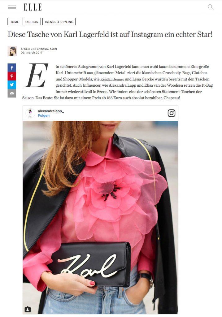 Karl Lagerfeld - Diese Tasche wird gerade bei Instagram gehypt - ELLE - 2017 03 - Alexandra - Lapp - found on http://www.elle.de/karierte-oversized-blazer