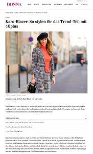 Karo-Blazer - So kombinieren Sie das Trend Teil mit 40plus - donna-magazin.de - 2019 06 - Alexandra Lapp - found on https://www.donna-magazin.de/mode/looks/rote-kleider-business/