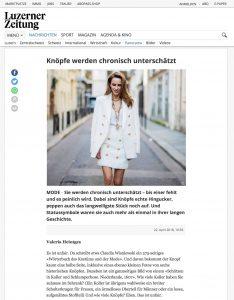 Knöpfe werden chronisch unterschätzt - Luzerner Zeitung - 2018 04 22 - Alexandra Lapp - found on http://www.luzernerzeitung.ch/nachrichten/panorama/alles-nur-knopfsache;art178479,1238404