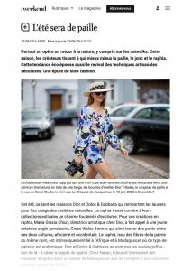 L'été sera de paille - Lifestyle Le Vif Weekend - weekend.levif.be - 2020 06 15 - Alexandra Lapp - found on https://weekend.levif.be/lifestyle/l-ete-sera-de-paille/article-normal-1298985.html?cookie_check=1593647400