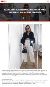 Las blusas abollonadas regresan de los 80 para quedarse Foto 1 - us.hola.com/es - 2019 08 29 - Alexandra Lapp - found on https://us.hola.com/es/moda/galeria/2019082926447/mangas-abullonadas-vv/1/