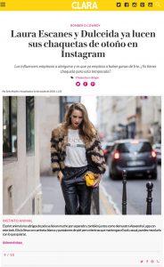 Laura Escanes y Dulceida ya lucen sus chaquetas de otono en Instagram - Clara Spain - 2018 10 16 - Alexandra Lapp - found on https://www.clara.es/moda/news/laura-escanes-y-dulceida-ya-lucen-sus-chaquetas-otono-instagram_12480/9