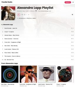 Listen to Alexandra Lapp original playlist now - parallelradio com - 2018 06 - Alexandra Lapp - found on https://www.parallelradio.com/music/alexandra-lapp-playlist/