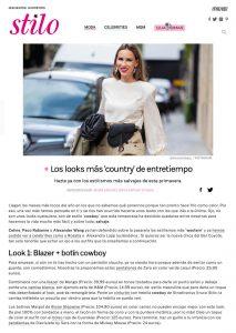 Los looks de estilo cowboy para entretiempo - stilo.es - 2020 02 06 - Alexandra Lapp - found on https://www.stilo.es/moda/looks-country-entretiempo