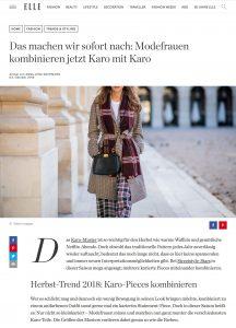 Machen wir direkt nach Modefrauen kombinieren Karo mit Karo - ELLE.de - 2018 10 04 - Alexandra Lapp - found on https://www.elle.de/herbst-trend-2018-karo-kombi