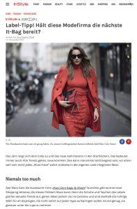 Marc Cain liefert uns mit der Accessoire-Linie Marc Cain Bags Shoes neue Lieblingsteile - InStyle de - 2017-11-17 - Alexandra Lapp - found on http://www.instyle.de/fashion/marc-cain-neue-lieblings-tasche