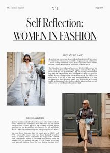 Miuse Issue - No. 1 - Page 105 - 2020 05 - Self Reflection Women in fashion - Alexandra Lapp