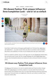 Mit diesem Fashion Trick pimpen Influencer ihren Look - InStyle.de - 2019 07 12 - Alexandra Lapp - found on https://www.instyle.de/fashion/modetrend-influencer-strappy-heels-look-veraendern