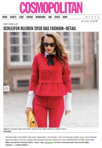 Mode Trends 2017 - Schleifen sind 2017 DAS Fashion-Detail - COSMOPOLITAN de - 2017-11-30 - Alexandra Lapp - found on http://www.cosmopolitan.de/mode-trends-2017-schleifen-sind-2017-das-fashion-detail-79076.html
