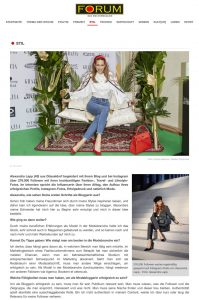 Mode ist mein täglich Brot - Forum - Das Wochenmagazin - magazin-forum.de - 2020 02 07 - Alexandra Lapp - found on https://magazin-forum.de/de/node/17831