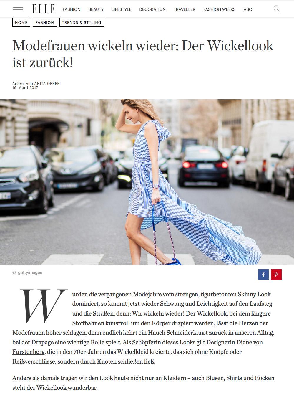 Modefrauen wickeln wieder - Der Wickellook ist zurück - ELLE - 2017 04 - Alexandra Lapp - found on http://www.elle.de/wickellook