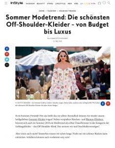 Modetrend - Die schönsten Off-Shoulder-Kleider im Sommer 2019 - inStyle.de - 2019 05 31 - Alexandra Lapp - found on https://www.instyle.de/fashion/off-shoulder-kleider-modetrend-sommer-2019
