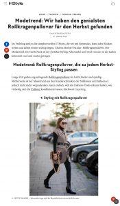 Modetrend Rollkragenpullover die zu jedem Herbst-Styling passen - InStyle Germany online - instyle.de - 2010 10 07 - Alexandra Lapp - found on https://www.instyle.de/fashion/modetrend-rollkragenpullover-styling-herbst-2020