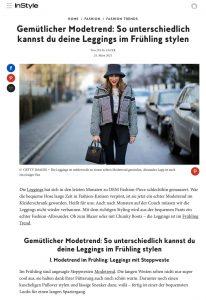 Modetrend: So unterschiedlich stylen wir Leggings im Frühling - instyle.de - 2021 03 24 - Alexandra Lapp - found on https://www.instyle.de/fashion/modetrend-leggings-fruehling-styling
