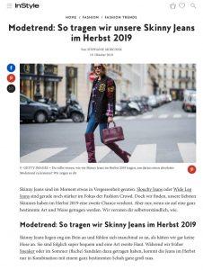 Modetrend - So tragen wir unsere Skinny Jeans im Herbst 2019 - Instyle - instyle.de - 2019 10 19 - Alexandra Lapp - found on https://www.instyle.de/fashion/modetrend-skinny-jeans-herbst-2019